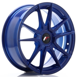 JR Wheels JR21 17x7 ET25-40 BLANK Platinum Blue