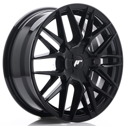 Japan Racing JR28 17x7 ET20-45 BLANK Glossy Black<br/>